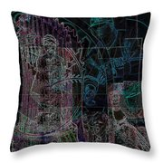 Bean Town V3 Throw Pillow by Jimi Bush