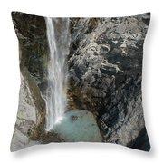 Bear Creek Falls Throw Pillow