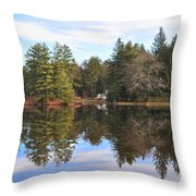 Bear Creek Lake Throw Pillow