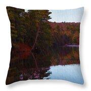 Bear Creek Lake In The Poconos Throw Pillow