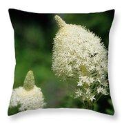 Bear Grass Blooms Throw Pillow