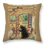 Bear In The Kitchen - Dream Series 7 Throw Pillow