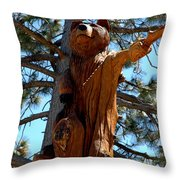 Bear Look Out Throw Pillow