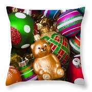Bear Ornament Throw Pillow