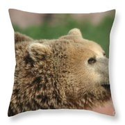 Bear Profile Throw Pillow