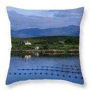 Beara, Co Cork, Ireland Mussel Farm Throw Pillow