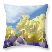 Bearded Iris Flowers Art Prints Floral Irises Throw Pillow