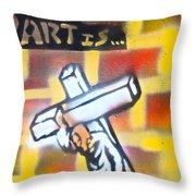 Bearing The Cross Throw Pillow