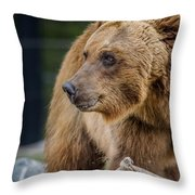 Bearing With It Throw Pillow