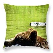 Bearly Swim Throw Pillow