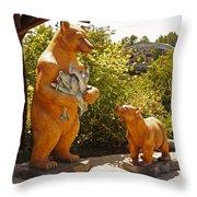 Bears At Taprock Throw Pillow