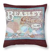 Beasley Produce Since 1931 Throw Pillow