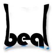 Beat Poster Throw Pillow