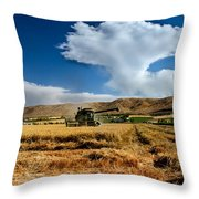 Beating The Strom Throw Pillow