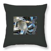 Beaufort Blue Crabs Throw Pillow