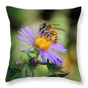 Beautiful Bee Throw Pillow