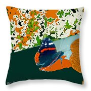 Beautiful Butterfly On A Gold Throw Pillow