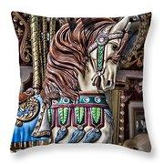 Beautiful Carousel Horse Throw Pillow