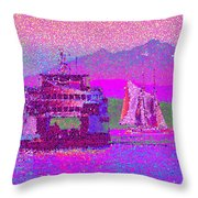 Beautiful Day For A Sail Throw Pillow