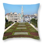 Beautiful Day In Bruessels Throw Pillow