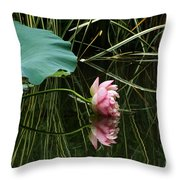 Beautiful Fallen Lotus Throw Pillow