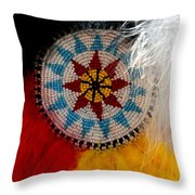 Beautiful Feathers Throw Pillow