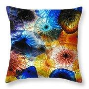 Beautiful Glass Flowers Throw Pillow