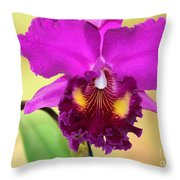 Beautiful Hot Pink Orchid Throw Pillow