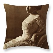 Beautiful Lady In 1880 Throw Pillow