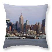 Beautiful Light On New York City Throw Pillow