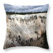 Beautiful Lighting On The Grand Canyon In Yellowstone Throw Pillow