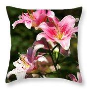 Beautiful Lilys Throw Pillow