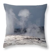 Beautiful Old Faithful Throw Pillow