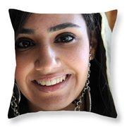 Beautiful Smile Throw Pillow