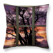 Beautiful Sunset Bay Window View Throw Pillow