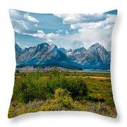 Beautiful Tetons Throw Pillow