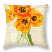 Beautiful Tulips Throw Pillow