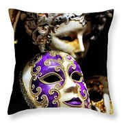 Beautiful Venetian Masks Throw Pillow