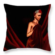 Beautifully Red Throw Pillow