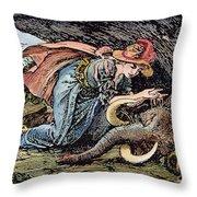 Beauty & The Beast, 1891 Throw Pillow