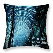Beauty And Ugly Throw Pillow