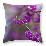Beauty Berry Explosion Throw Pillow