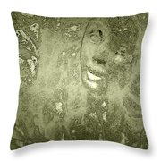 Beauty Cast In Stone Throw Pillow