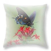Beauty Flies Throw Pillow