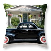 Beauty In Black Throw Pillow