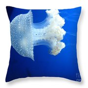 Beauty In The Blue Throw Pillow