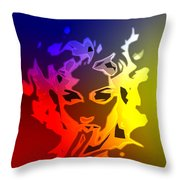 Beauty In The Neon Light Throw Pillow