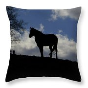 Beauty In The Wind Throw Pillow