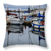 Beauty Of Boats Throw Pillow