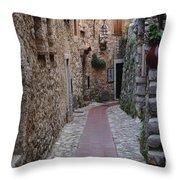 Beauty Of Eze France Throw Pillow